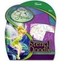 Disney Fairies - Stencil Doodle 2 Stencils and 4 Backgrounds Includes Pens (1 Each) [並行輸入品]