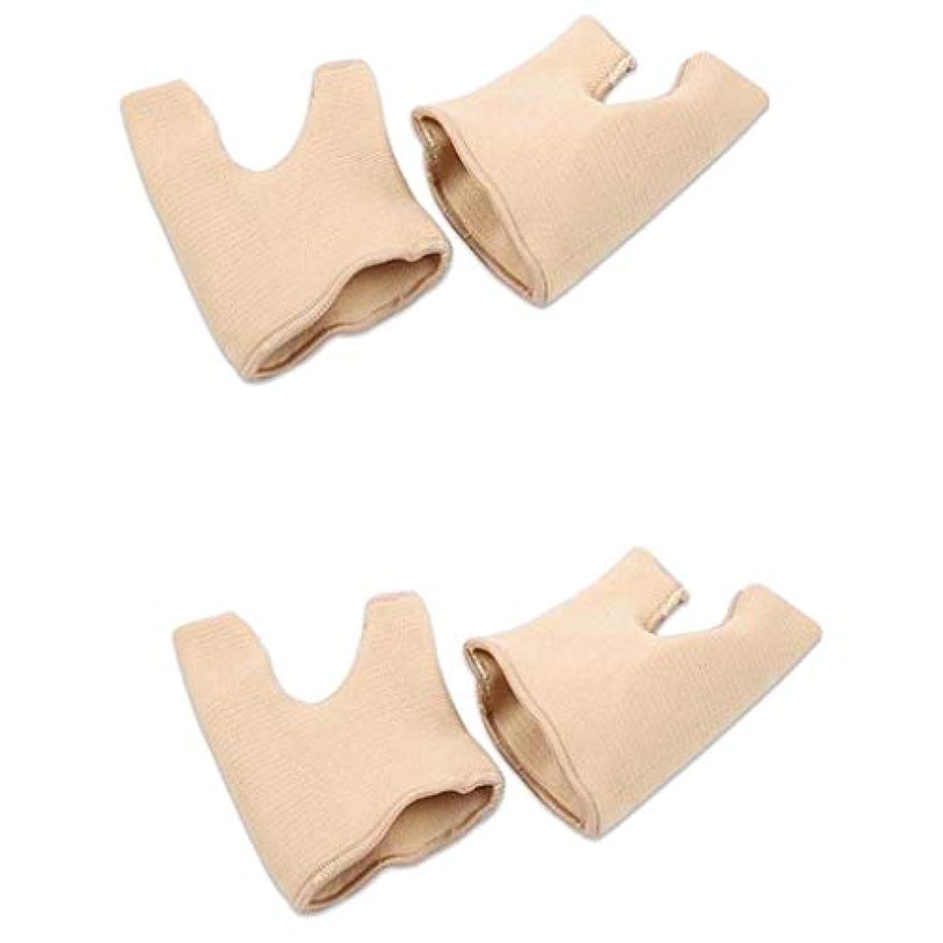アナロジー不公平等しい2ペア男性/女性Hallux外反足の足矯正腱板矯正用袖