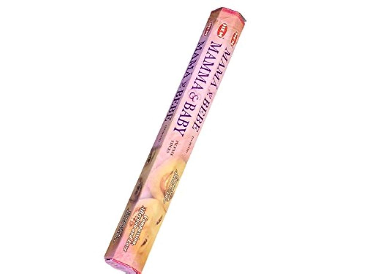 ネックレット薄い欠陥HEM (ヘム) インセンス スティック へキサパック ママ&ベイビー 6角(20本入)×1箱 [並行輸入品]