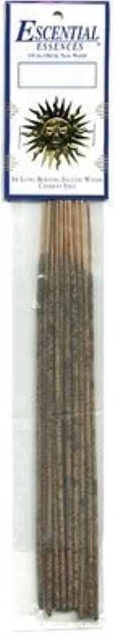 変装した羽領域Ebony Opium - Escential Essences Incense - 16 Sticks [並行輸入品]