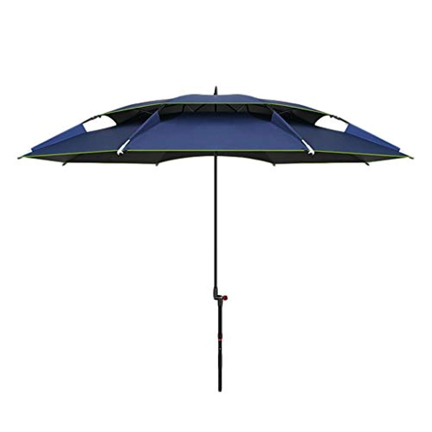 口述する入力滅多太陽傘アルミ合金黒ガム布日焼け止め雨折りたたみ傘屋外サンシェード傘 (Size : H2.1m)
