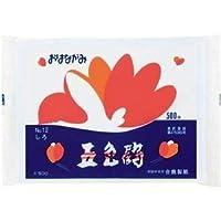 (まとめ) 合鹿製紙 おはながみ五色鶴 白 GO-500-W 1パック(500枚) 【×10セット】