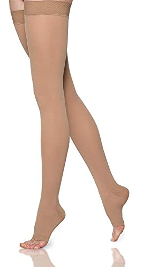 是正サラミ特徴づけるSigvaris Select Comfort 862NLLO66 20-30 mmHg Womens Open Toe Thigh, Crispa, Large-Long by Sigvaris