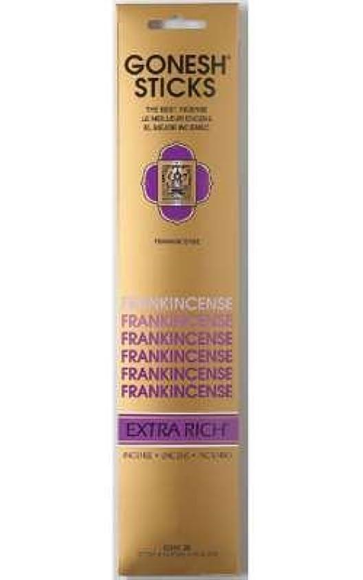 実証する恒久的セールGONESH インセンス エクストラリッチスティック FRANK INCENSE(フランクインセンス香)