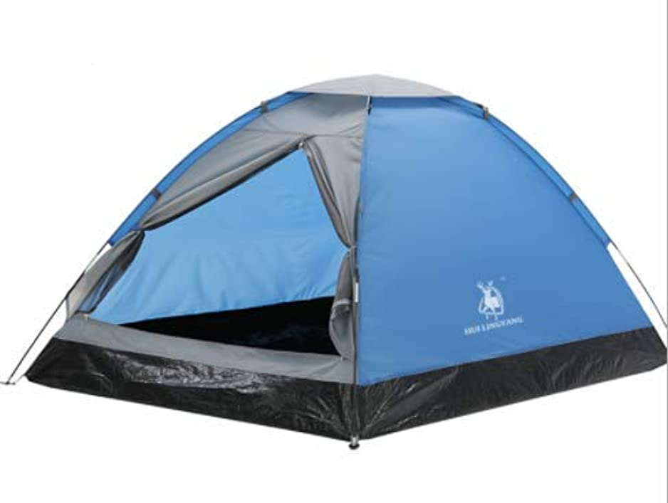 としてピア曲げるLishangl 屋外二重単層キャンプテントカップルレジャーキャンプ用品二重扉換気通気性抗光雨