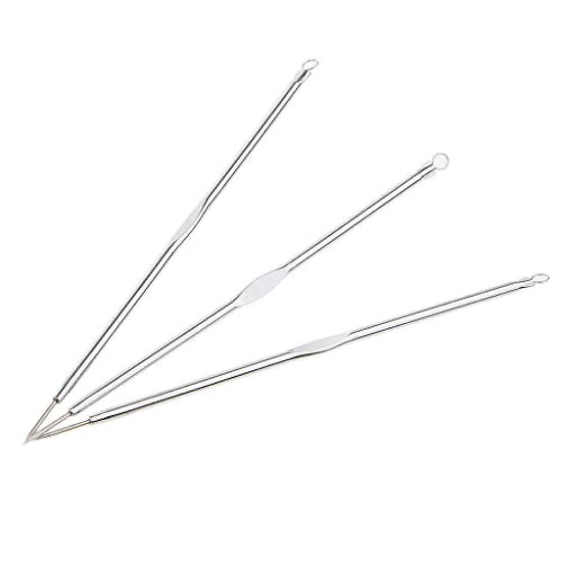 使用法肉腫グラム黒ずみリムーバー ニキビ針 ニードル ニキビ針 リムーバーツール メイク道具 3個入り