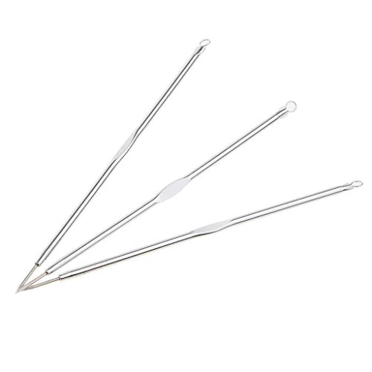 DYNWAVE 黒ずみリムーバー ニキビ針 ニードル ニキビ針 リムーバーツール メイク道具 3個入り