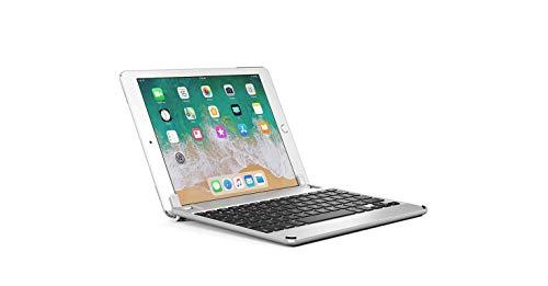 Brydge iPad Air Air 2 & iPad Pro (9.7インチ) 用 Bluetooth ワイヤレス 一体化型 アルミニウム キーボード ケース シルバー