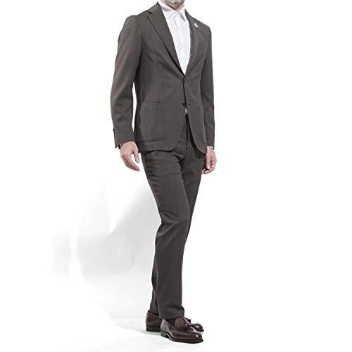(ラルディーニ) LARDINI 3つボタン スーツ/EASY WEAR イージーウェア パッカリング トラベル [並行輸入品]