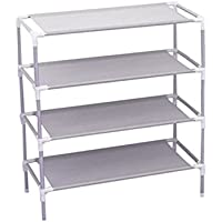 Wesoce 4 Tier Stainless Steel Shoe Rack Stand Standing Storage Home Accessories Beautiful Appearance