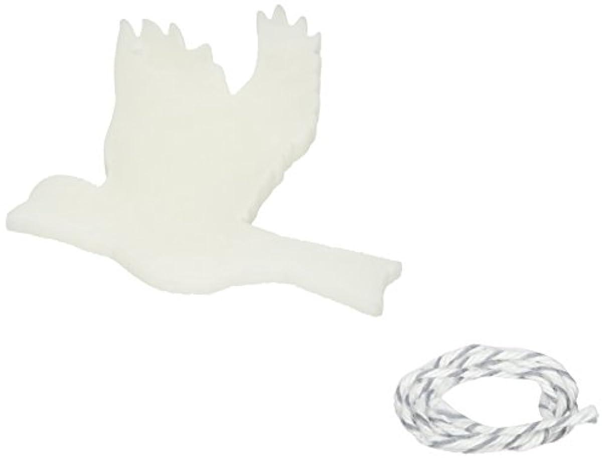 かみそりラブ土砂降りGRASSE TOKYO AROMATICWAXチャーム「ハト」(WH) スイートマジョラム アロマティックワックス グラーストウキョウ