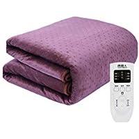 ダブルコントロール電気毛布、大、タイミング機能、インテリジェントなシフトダウン、自動電源オフ、マルチカラーとマルチサイズ (色 : Purple, サイズ さいず : 180 * 150cm)