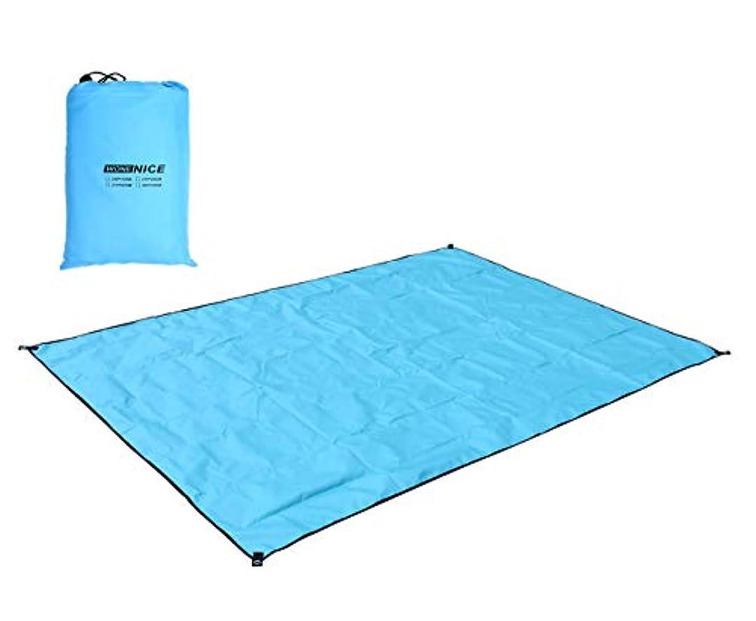 目的娯楽正午WoneNice Waterproof Camping Tent Footprint, Tent Mat, Tent Tarp, Sand Free Beach Mat Blanket and Ground Mat for Picnic, Camping, Hiking118 x 118 inches [並行輸入品]