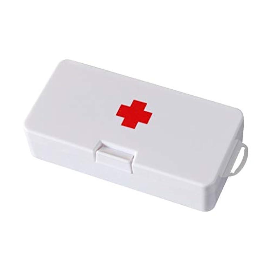 凍結ピラミッド別々に家庭用小薬箱、旅行、応急処置キット、携帯用小ピルボックス LIUXIN (Color : White, Size : 18cm×4.5cm×9cm)