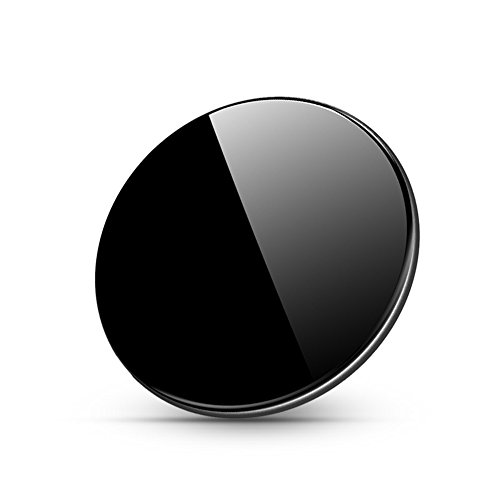 Qi 無線 ワイヤレス充電器 ワイヤレスチャージャー 10w 置くだけ充電 急速充電 ケース対応 発熱防止 薄型 黒色 iPhone 8/8 Plus iphoneX Galaxy Note8/S8/S8+/ S7他Qi対応機種 (ブラック)