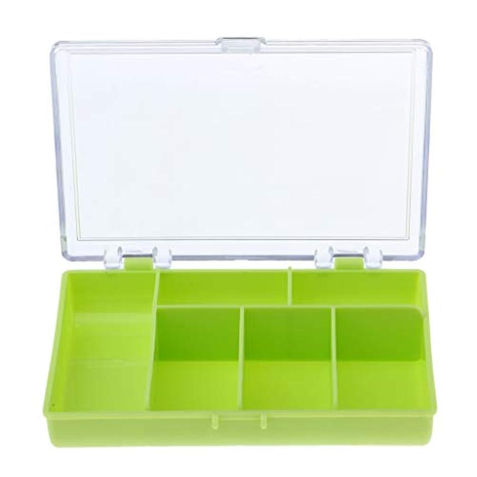 コンテンポラリー経営者刺激するFLAMEER ルアーボックス フック 収納ケース 6コンパート タックルボックス 約12×8.5×2.5cm 全3色