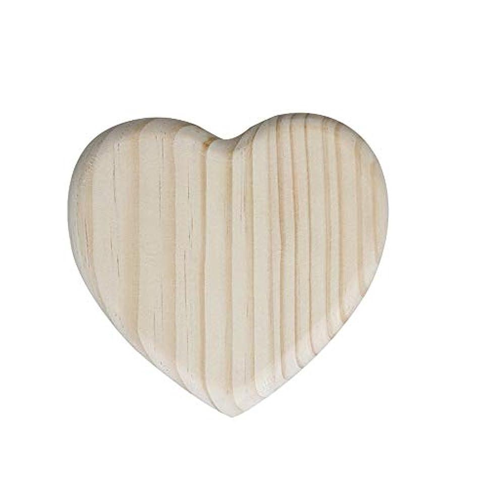 繊毛神話国エッセンシャルオイルボックス 手飾られた木材のオイルボックスの主催16ハート型の石油鉱床 アロマセラピー収納ボックス (色 : Natural, サイズ : 11X12X3.3CM)
