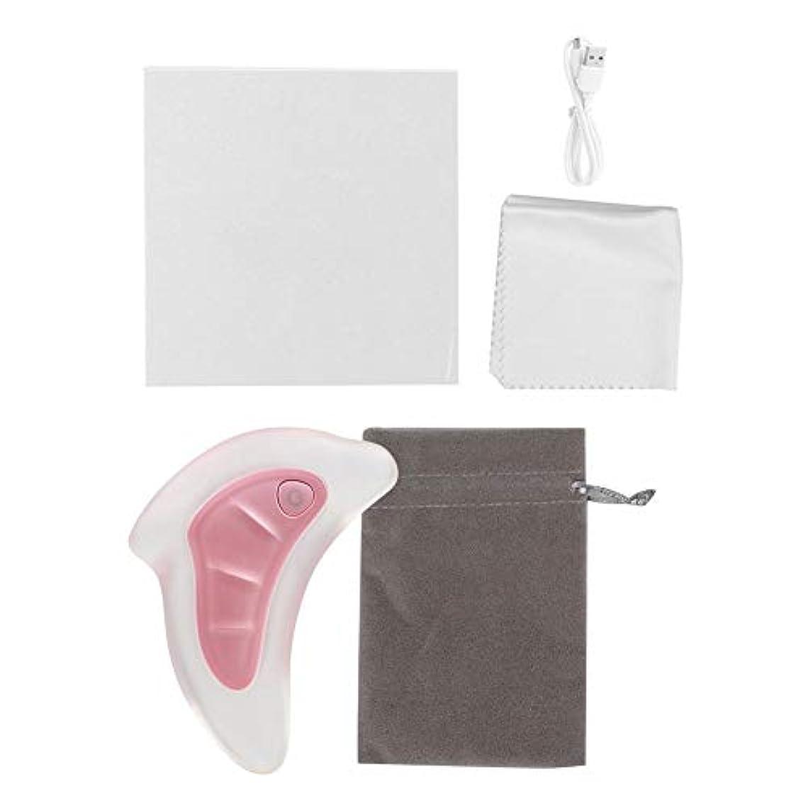 言い訳習熟度音2色スクレーピングマッサージャー - フェイスリフティングスクレーパー、グアシャツール - アンチエイジング、アンチリンクルマッサージ&フェイシャルグアシャ、カラフルなライトを廃棄するための楽器(ピンク)