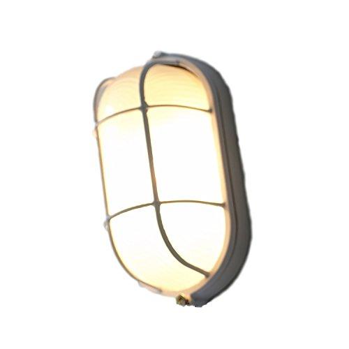 (ラ・セリジエ) マリン ランプ 小 アンティーク 照明 船舶灯 ウォール ライト ヴィンテージ風 レトロ インダストリアル 工業 アイアン (ホワイト)