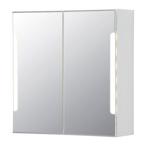 RoomClip商品情報 - IKEA(イケア) STORJORM ミラーキャビネット 扉2枚/ビルトイン照明, ホワイト (20250074)