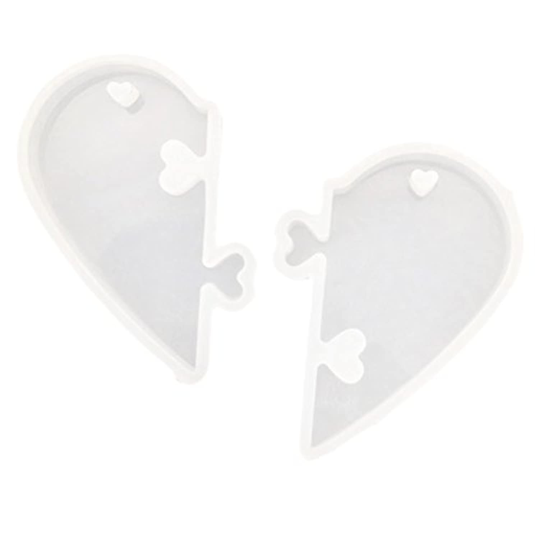 Fenteer ジュエリー作成 樹脂鋳造 シリコーン金型 モールド 手作り 使いやすい スプリットハート