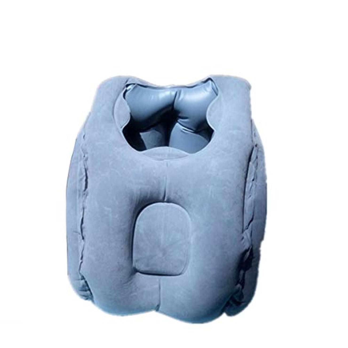 交流する年金練習したIntercoreyの携帯用サイズの膨脹可能なオフィスの家の枕ビロードの自由な空気交換は横になります枕快適な手の枕