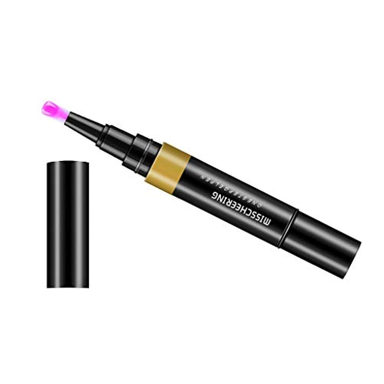 固体ベーシック自動化Toygogo ジェル マニキュアペン ワニスラッカー ネイルアートペン 3 イン 1 サロン 初心者 セルフネイル DIY - パープルレッド