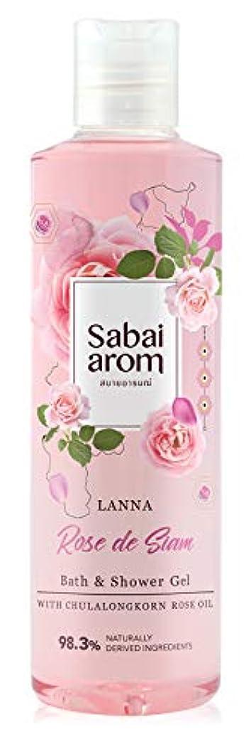 世紀信頼できる虫を数えるサバイアロム(Sabai-arom) ランナー ローズ デ サイアム バス&シャワージェル (ボディウォッシュ) 250mL【ROS】【002】