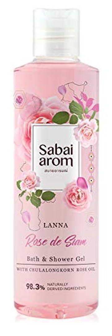 深く出くわす驚くべきサバイアロム(Sabai-arom) ランナー ローズ デ サイアム バス&シャワージェル (ボディウォッシュ) 250mL【ROS】【002】