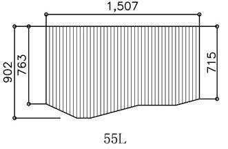 お風呂のふた ヤマハ 55L 【 品番 】 BFPFTAA100A1 巻きフタ ヤマハシステムバス用 風呂ふた 巻きふた   【 寸法 】 長さ 1507.5mm × 幅 902mm