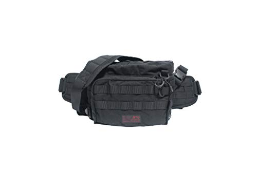 "LINHA(リーニア) 2WAY WAIST BAG""GROUPER"" TYPE4 MSB-03N BLACK(ブラック)"