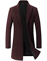 ODFMCE コート メンズ ロング ジャケット チェスターコート ウール 厚手 秋冬 無地 紳士服 防寒 大きいサイズ