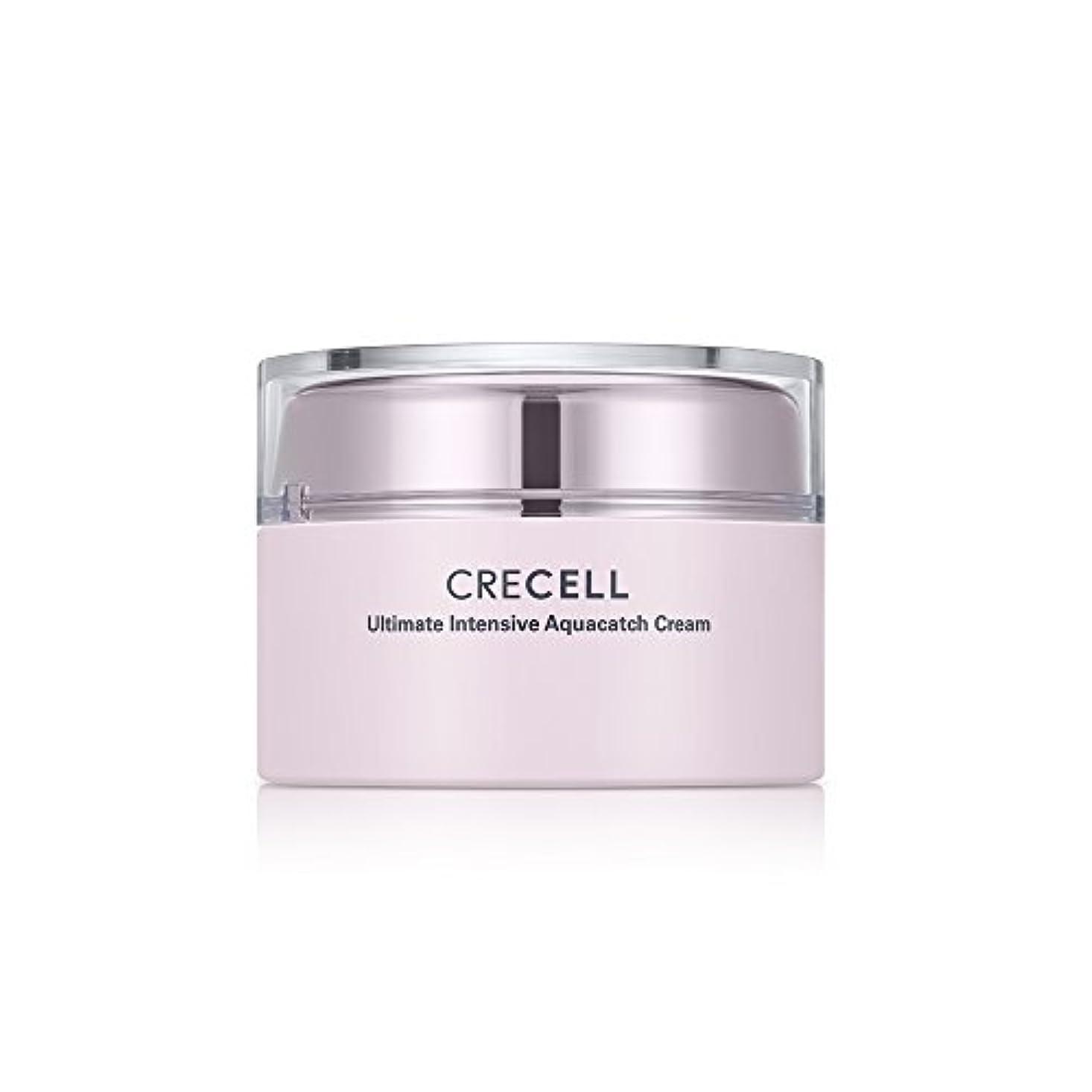 変換する生活雰囲気CRECELL Ultimate Intensive Aquacatch Cream【クレセルアルティメットアクアキャッチクリーム】すべての肌タイプ クリーム 皮膚の水分と油分を補い保つ 韓国コスメ 50g