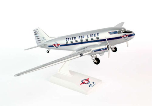 1: 80 スカイマークス Delta Air Lines DC-3 with Landing Gear (並行輸入)