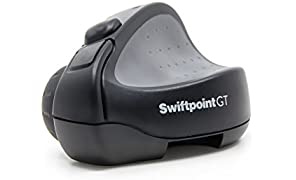 Swiftpoint GT Wireless Ergonomic Mobile Mouse For Productivity and Portability with USB Receiver, Quick Recharge, Sensitivity 1250 DPI.