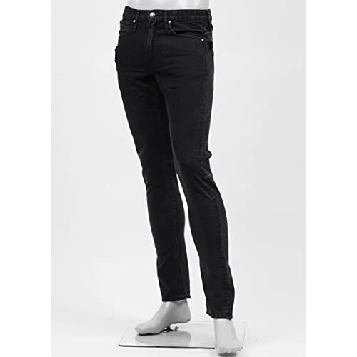 (ジミー タヴァニティ) JIMMY TAVERNITI ストレッチジーンズ 30サイズ LUCY SKINNY/REGULAR RISE/TAPERED LEG ブラック [並行輸入品]