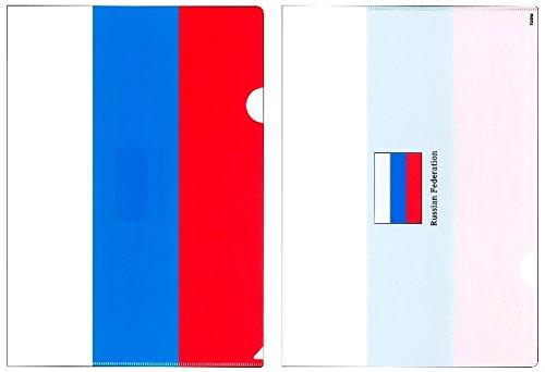 クリアファイル A4 ロシア国旗柄【クリアフォルダー A4サイズ 310×220mm】