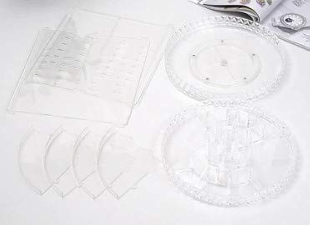 棚むしろ引く回転化粧品収納ボックスダイヤモンド透明化粧品ケーススキンケア製品ディスプレイボックスデスクトップ収納ボックス