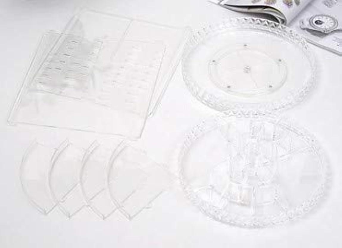 起きてなくなるレジデンス回転化粧品収納ボックスダイヤモンド透明化粧品ケーススキンケア製品ディスプレイボックスデスクトップ収納ボックス