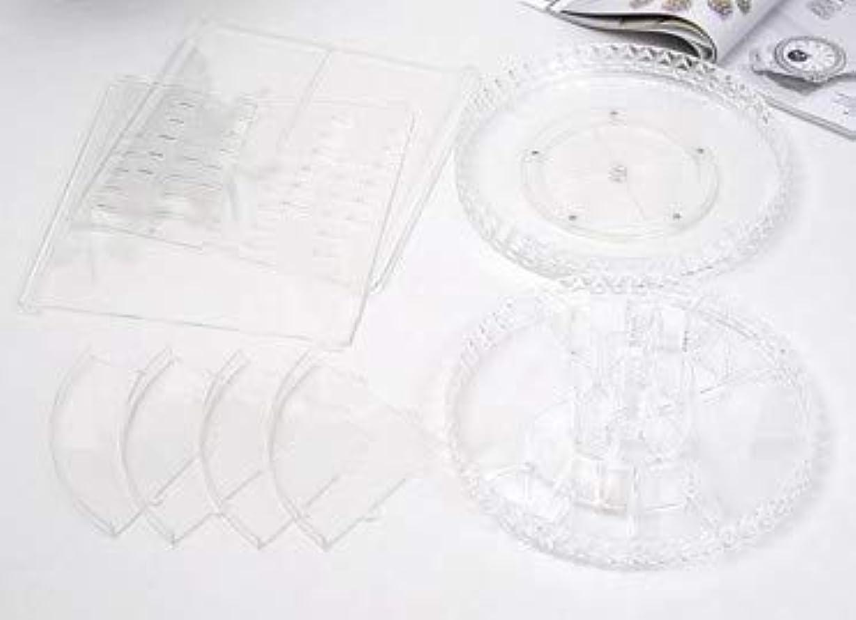 テスト最愛の精査する回転化粧品収納ボックスダイヤモンド透明化粧品ケーススキンケア製品ディスプレイボックスデスクトップ収納ボックス