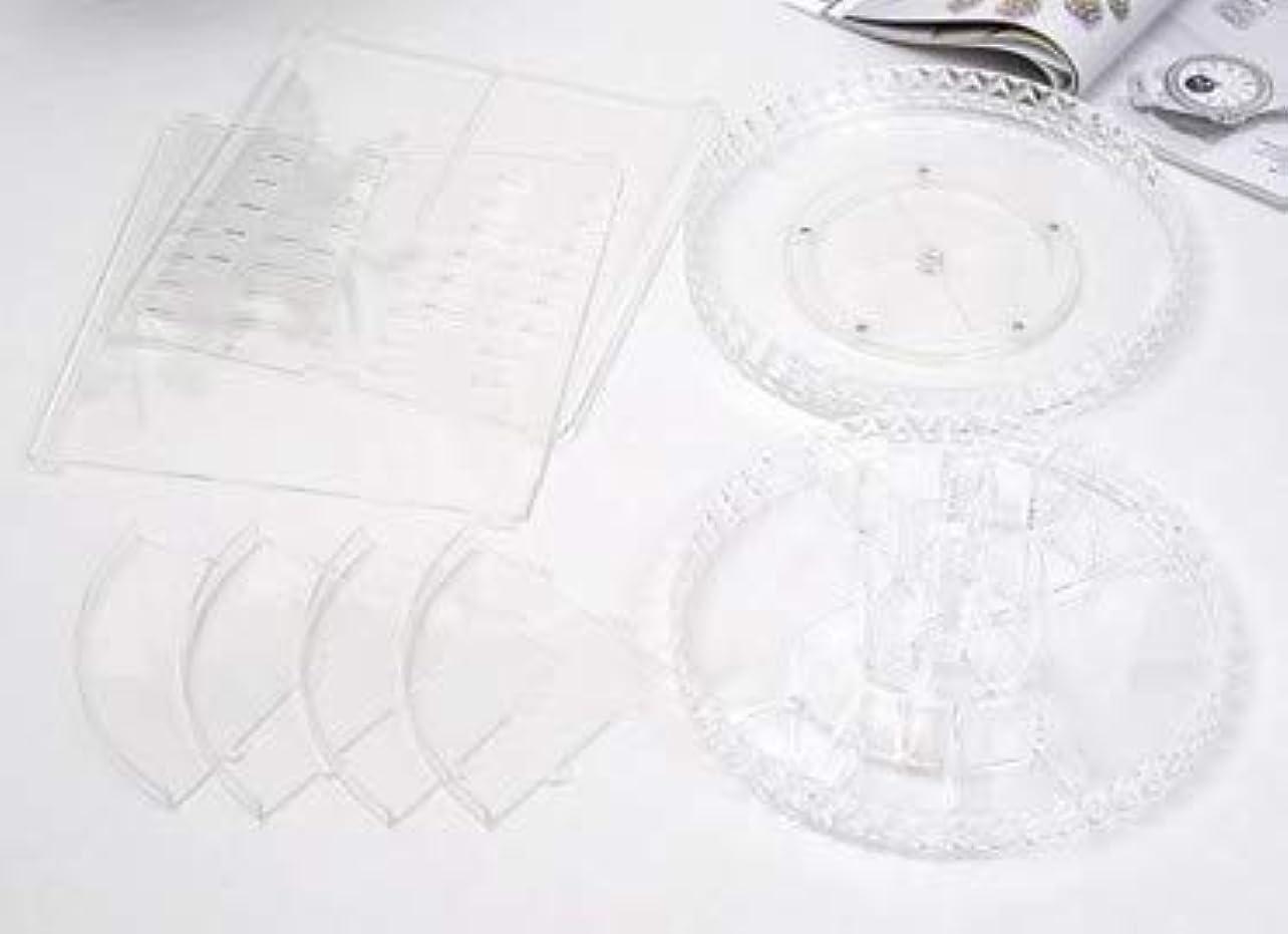 測定可能慣習教会回転化粧品収納ボックスダイヤモンド透明化粧品ケーススキンケア製品ディスプレイボックスデスクトップ収納ボックス