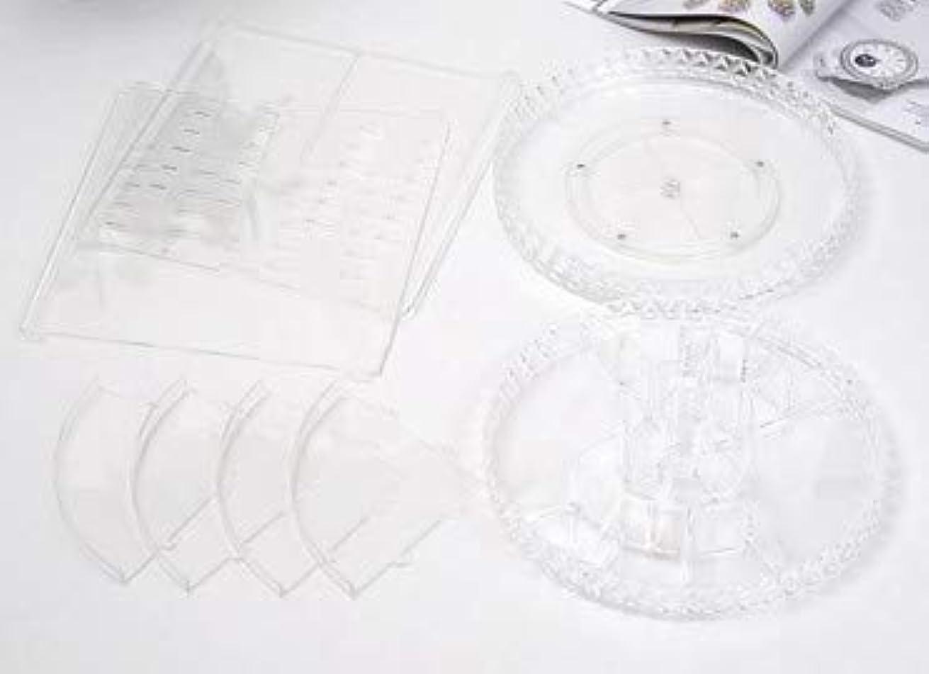 支払い意志に反するアラビア語回転化粧品収納ボックスダイヤモンド透明化粧品ケーススキンケア製品ディスプレイボックスデスクトップ収納ボックス