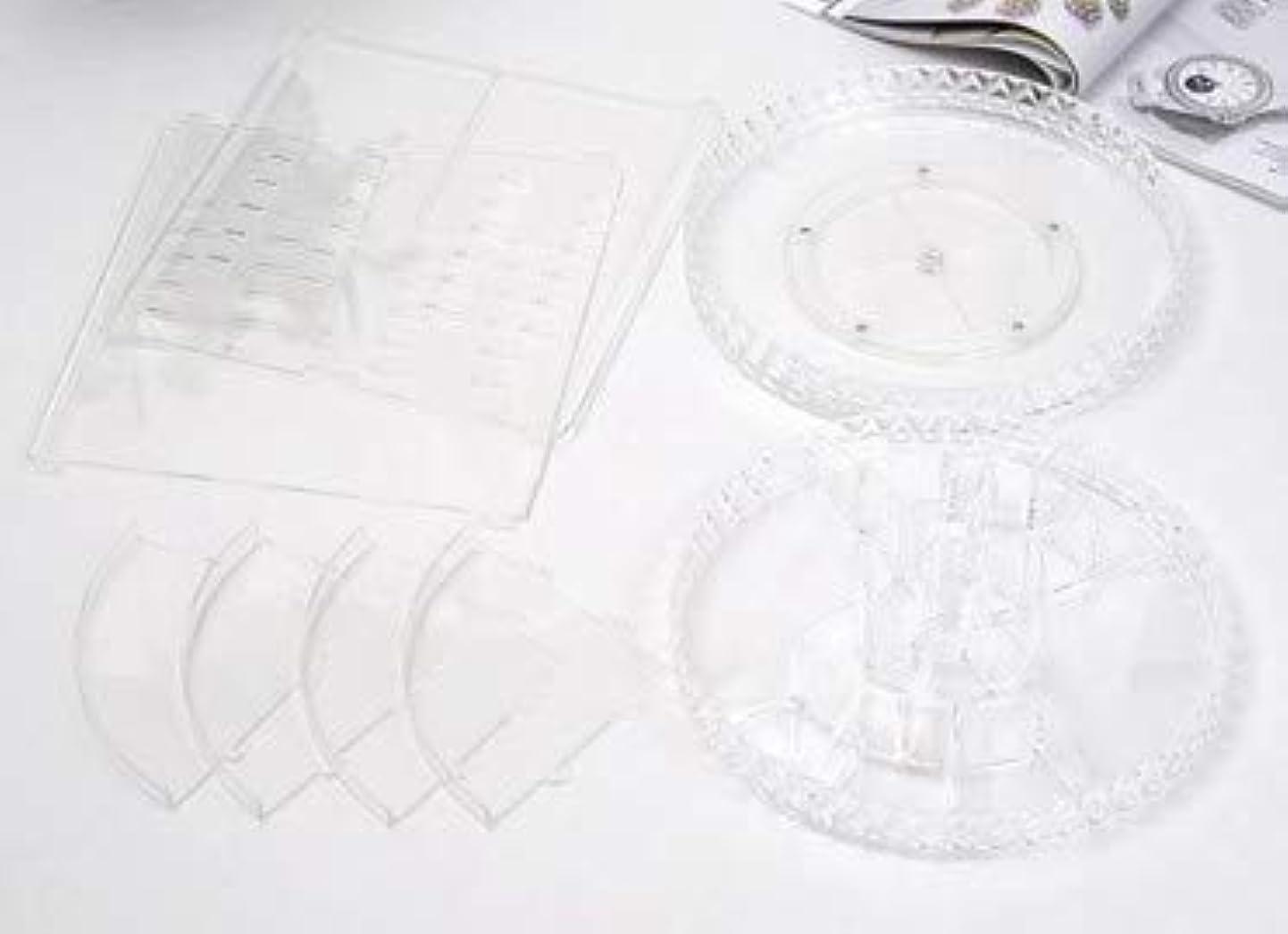 取るしなやかハイブリッド回転化粧品収納ボックスダイヤモンド透明化粧品ケーススキンケア製品ディスプレイボックスデスクトップ収納ボックス