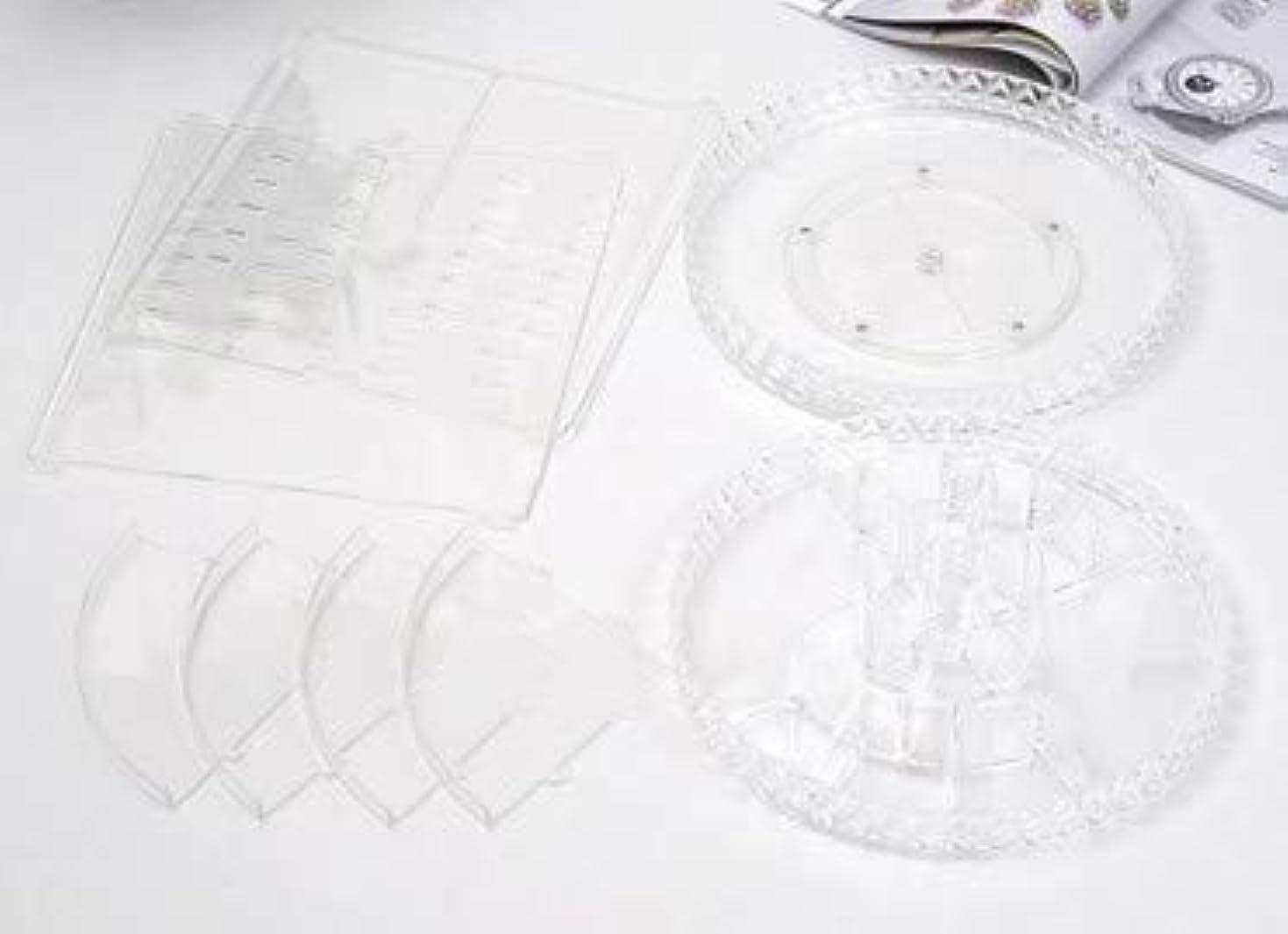 半導体緑の配列回転化粧品収納ボックスダイヤモンド透明化粧品ケーススキンケア製品ディスプレイボックスデスクトップ収納ボックス