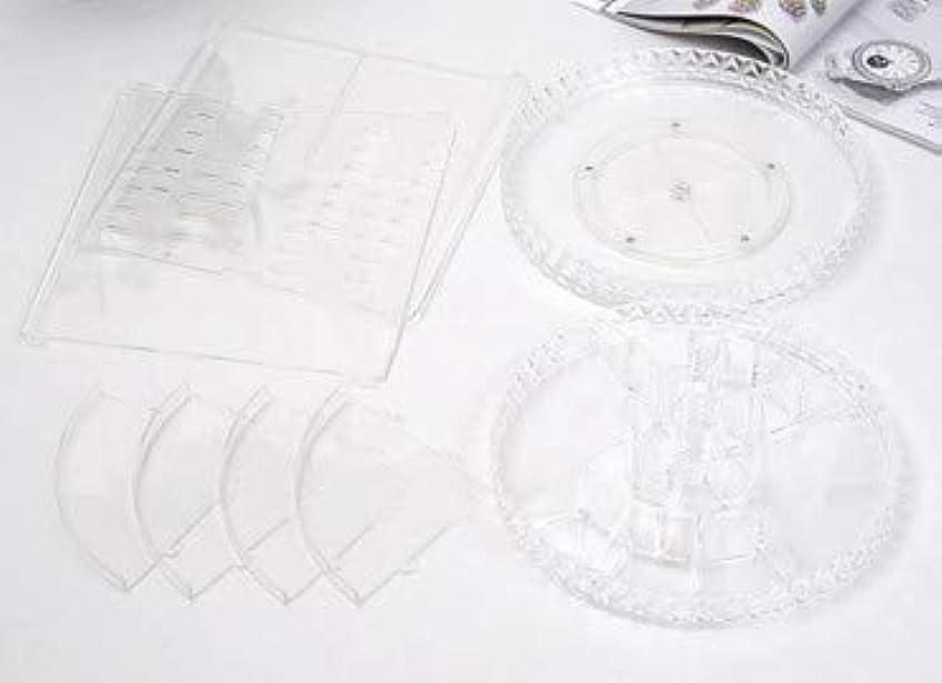 計算サイト起業家回転化粧品収納ボックスダイヤモンド透明化粧品ケーススキンケア製品ディスプレイボックスデスクトップ収納ボックス