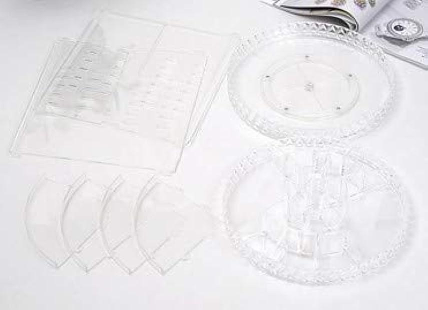 ペイントできれば寝室を掃除する回転化粧品収納ボックスダイヤモンド透明化粧品ケーススキンケア製品ディスプレイボックスデスクトップ収納ボックス