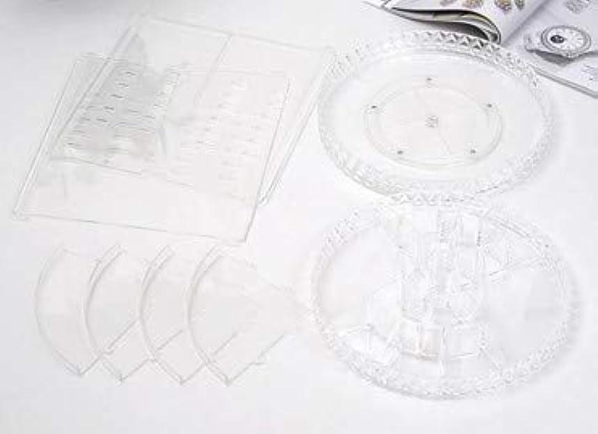 取り扱いほとんどない紀元前回転化粧品収納ボックスダイヤモンド透明化粧品ケーススキンケア製品ディスプレイボックスデスクトップ収納ボックス