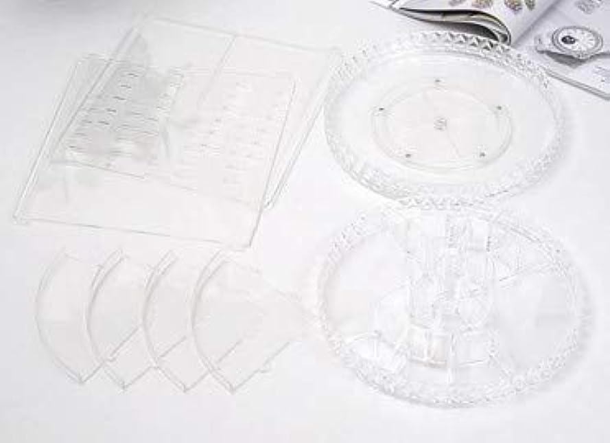 ヒップ面倒やさしい回転化粧品収納ボックスダイヤモンド透明化粧品ケーススキンケア製品ディスプレイボックスデスクトップ収納ボックス