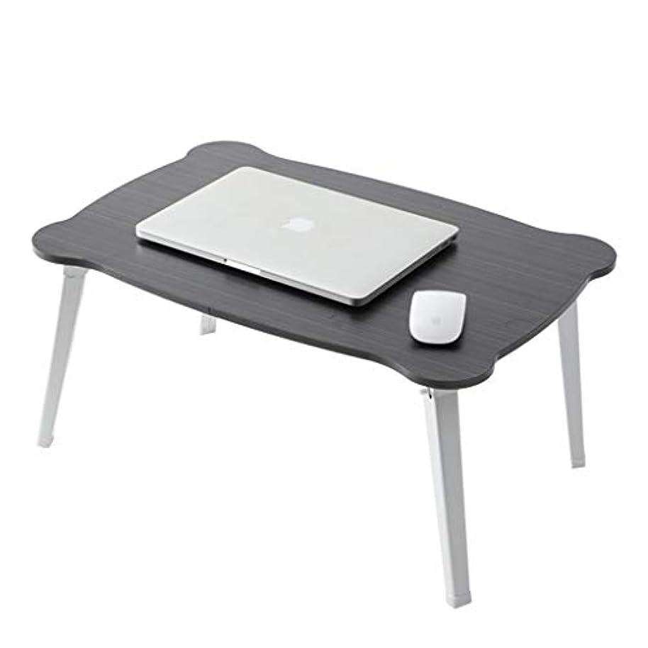 機密外側楽なNJ 折りたたみ式テーブル- 学生折り畳み式コンピュータデスク、家庭用寮のベッドに小さなデスクを書くデスク (色 : 黒, サイズ さいず : 70x45x29cm)