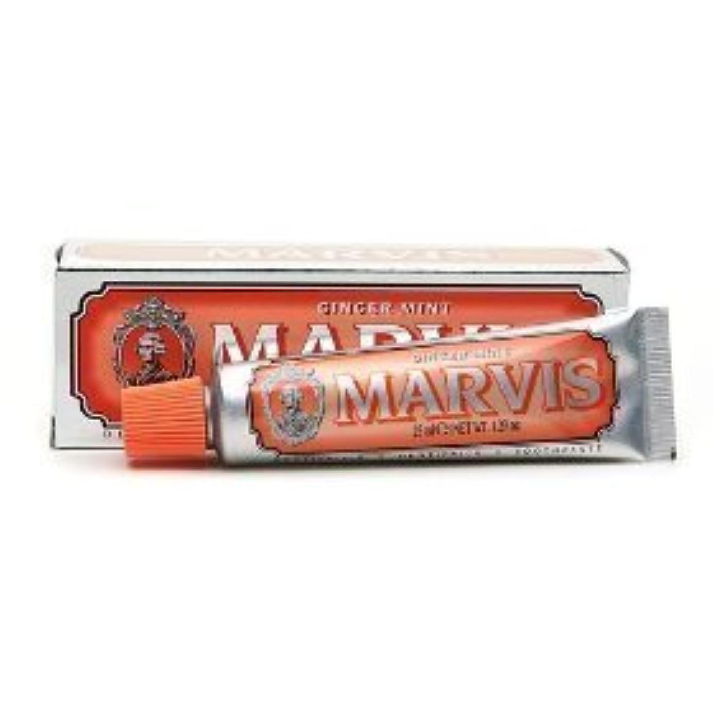 許される適用済み少数Marvis Toothpaste Ginger Mint Travel Size by Marvis [並行輸入品]